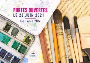 Flyer des portes ouvertes aux beaux arts de Cannes