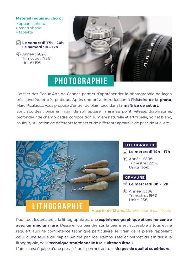 Cours de photographie et lithographie à Cannes