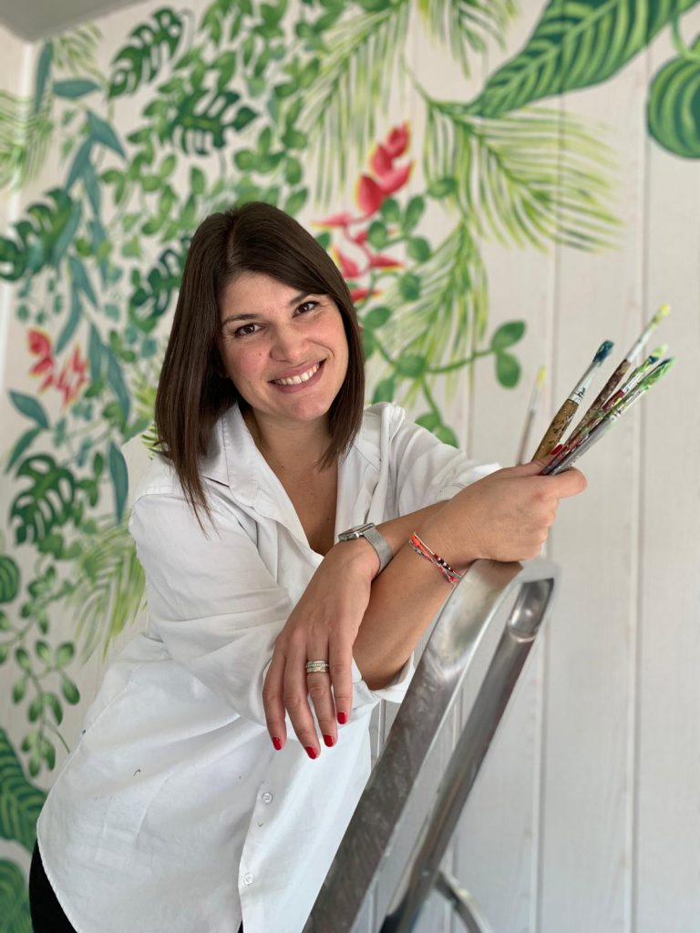fresque murale de Maggy Pottier professeur aux beaux arts de Cannes