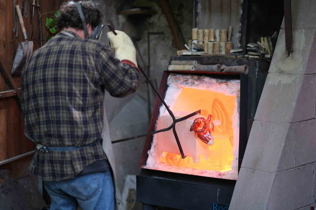 démonstration de Raku aux portes ouvertes des beaux arts